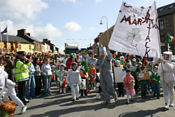 Saint Patricks Day Parade Clifden Connemara holiday cottages in clifden