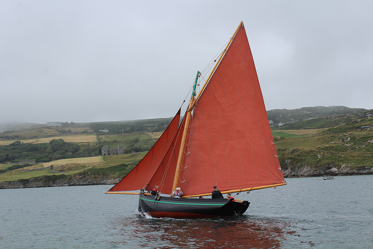 Traditional Sailing Boats in Clifden Bay - A Parade of ...